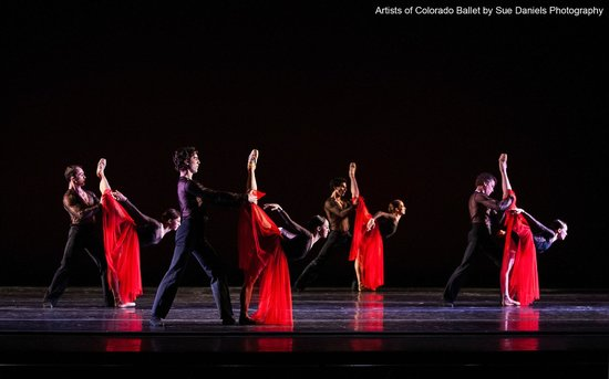 "Artists of Colorado Ballet in ""Feast of the Gods,"" photo by Sue Daniels Photography"