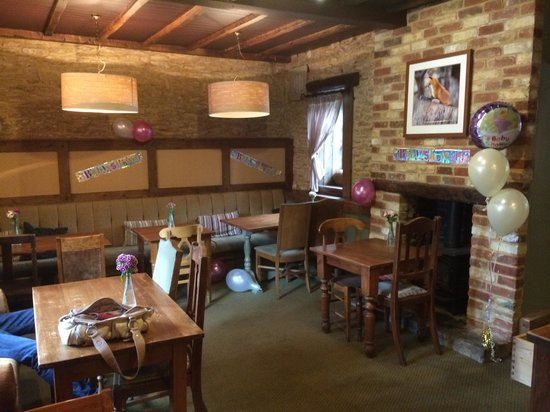 Fox at Farthinghoe: Back room of the Restaurant