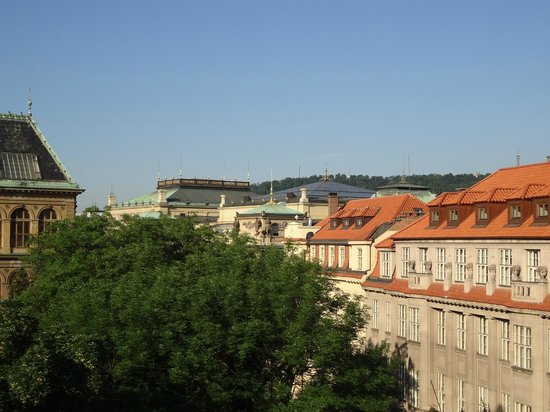 Residence Brehova - Prague City Apartments: View from the apartment; the rooftop of the Rudolfinum is visible