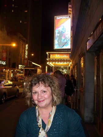 Junior's: Before the Les Miserables show~excellent with Ramin Karimloo