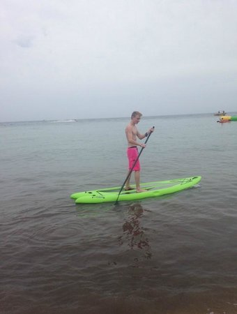 Paradise Beach: Paddle Boarding on the rocky part of the beach.