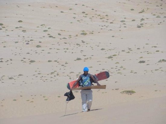 Alter Action Sandboarding: You have to be very fit to walk up the dunes in snow boots carrying a load.