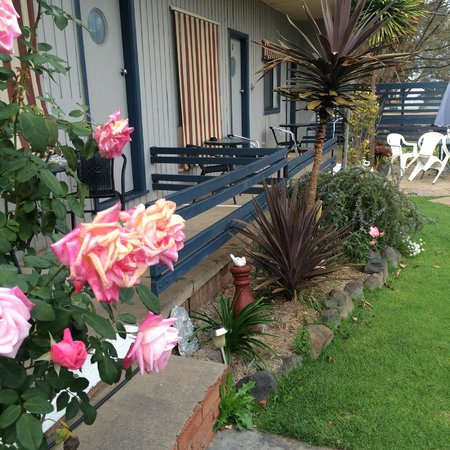Black Stump Motel: Each room has its own outdoor seating area