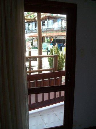 Pousada Porto Dos Milagres: Varandinha lateral praia/ suíte n.1