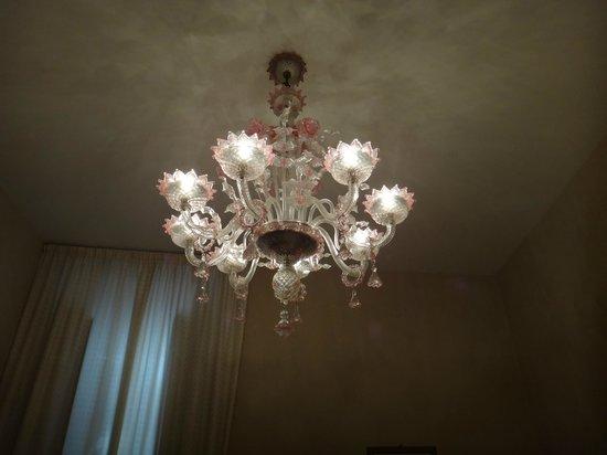 Hotel Columbia: Room chandelier