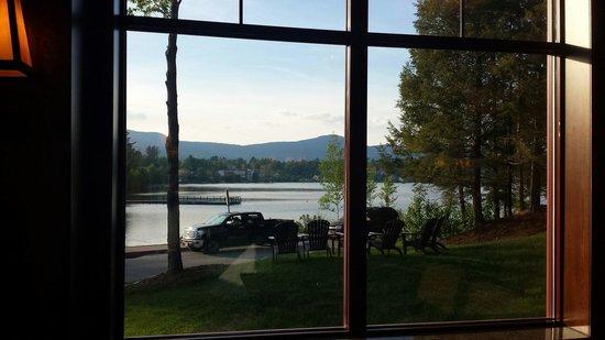 Hampton Inn & Suites Lake Placid: View of Mirror Lake while having breakfast.