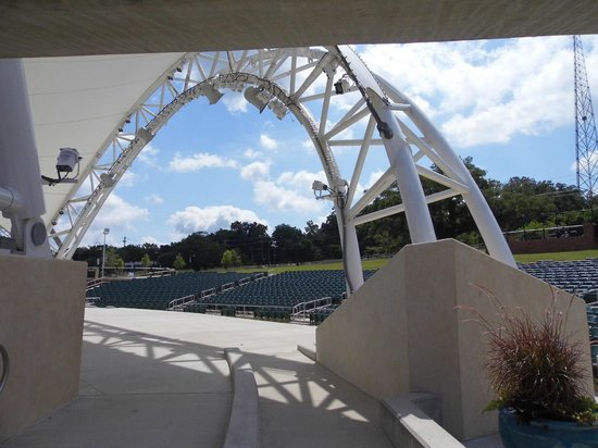 Cascades Park: The event staging and seating area