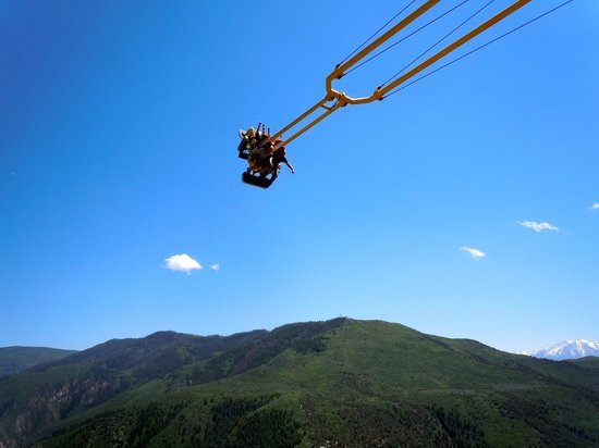 Glenwood Caverns Adventure Park : Canyon Swing is Scary but FUN!