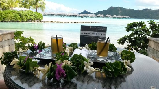 InterContinental Bora Bora Resort & Thalasso Spa : Check in (ambassador)