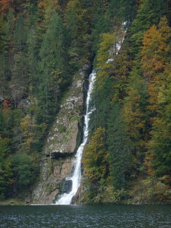 Königssee: The long and beautiful waterfall