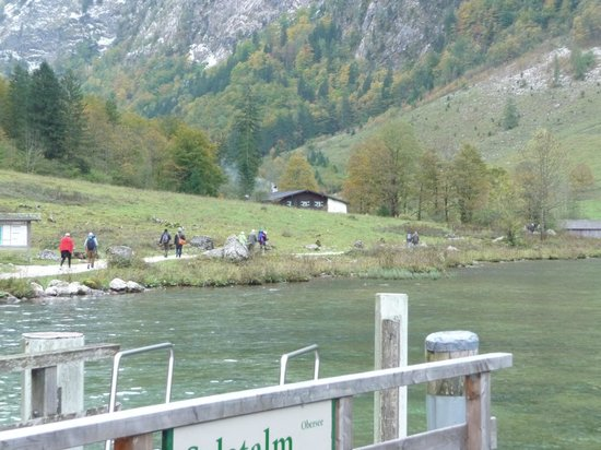 Königssee: Here you can see the top of the restaurant at the end of the lake