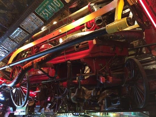 Fanny Ann's Saloon: Right above the bar