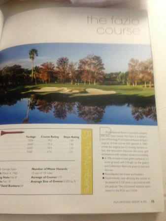 PGA National Resort & Spa: Hotel's description of the golf course we played