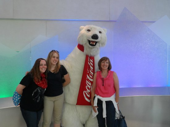 World of Coca-Cola: Us with the Coke Polar Bear..