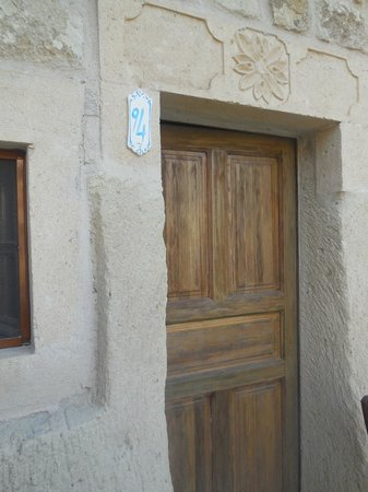 Dreams Cave Cappadocia: Quaint entrance to our room, carved from the mountain
