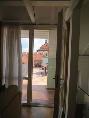 Residence Karlova - Prague City Apartments: Door to the terrace and amazing views