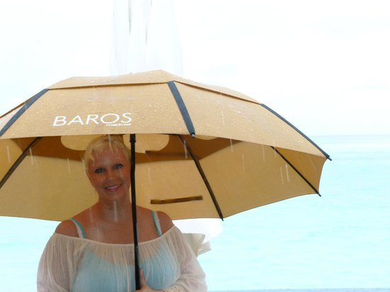 Baros Maldives: Baros in the rain