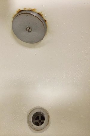 Homewood Suites Williamsburg: rust in tub