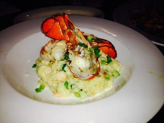 Saltwater Grill : lobster with risotto.