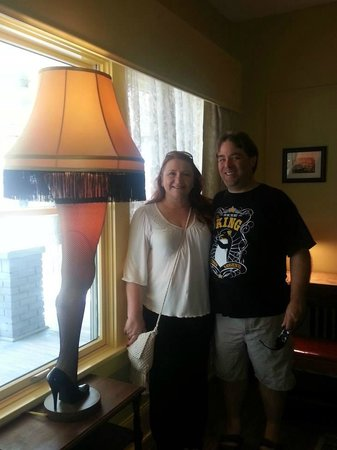 A Christmas Story House: Us with the LEG LAMP!