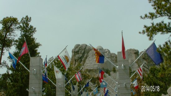 Mount Rushmore National Memorial: View of the Memorial from the entrance
