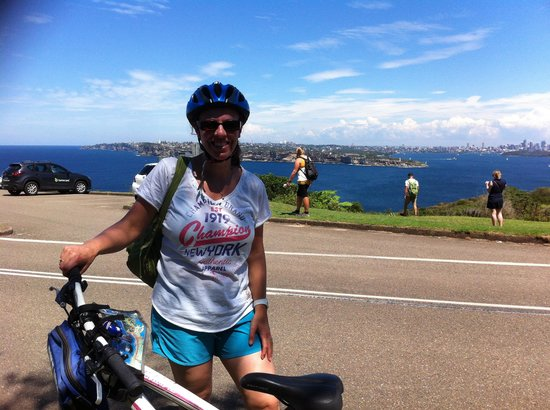 Manly Bike Tours and Bike Hire : At Manly heads