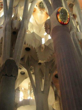 Sagrada Família : Inacreditáveis Colunas em forma de plantas.