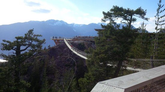 Sea to Sky Gondola: From the suspension bridge viewing platform