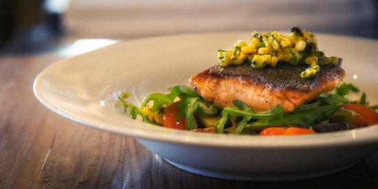 Ocean Grill: California line-caught,wild,king salmon.