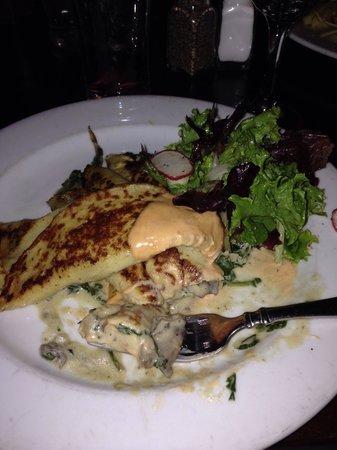Django Restaurant: Amazing mushroom crepes!