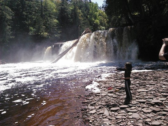 Porcupine Mountains Wilderness State Park: One of many waterfalls!