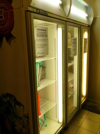 World Square Hostel: 3rd floor, shared kitchen fridge