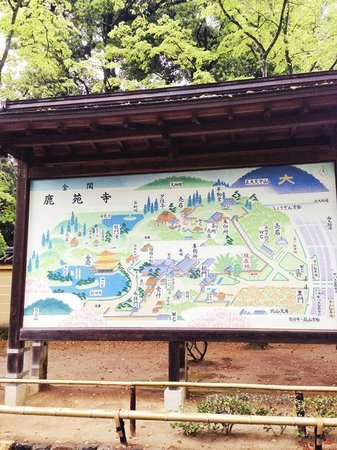 Templo del Pabellón de Oro (Kinkaku-ji): Temple Complex Map