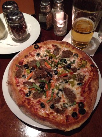 Chicago Fire Oven : Meatball Parmesan 8 inch Pizza - Yum !!!  Try it !