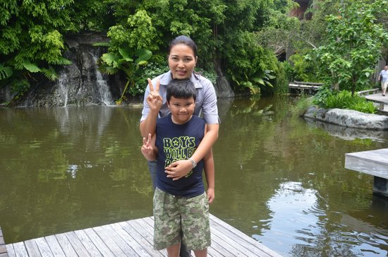 Renaissance Phuket Resort & Spa: My 8-year old son with the lovely Jinny