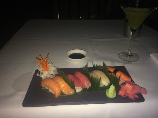 lebua at State Tower: Sashimi selection at tower Restaurant