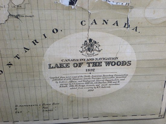Map Of Kenora Canada.Old Map On Display At The Boathouse 310 Matheson Street Kenora