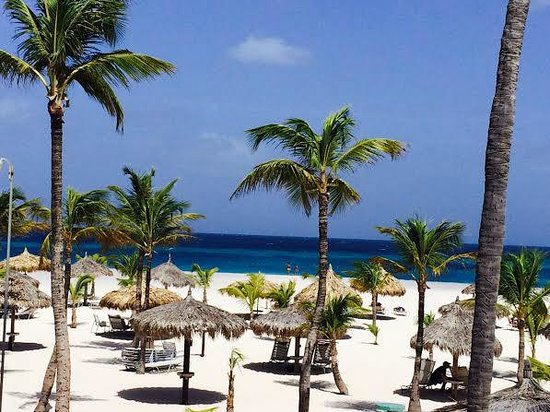 Manchebo Beach Resort & Spa: Our view from an ocean view room