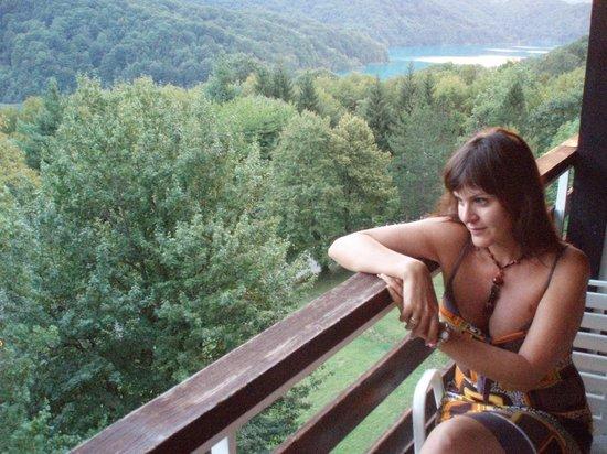 Hotel Jezero : вид с балкона