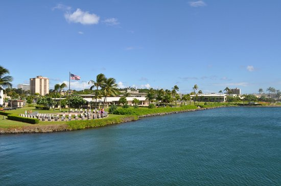 USS Arizona Memorial/World War II Valor in the Pacific National Monument: View of Pearl Harbor from USS Bowfin Submarine