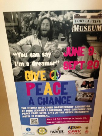 'You can say I'm a Dreamer' @fortlareinemuseum.  Give Peace a Chance, 2014 Tornado      Portage