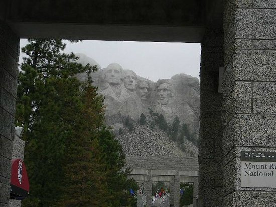 Mount Rushmore National Memorial: Ourt first glimpse