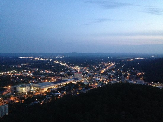 view from Hot Springs Mountain Tower