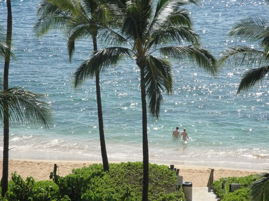 The Westin Kaanapali Ocean Resort Villas: Beach view from our room.
