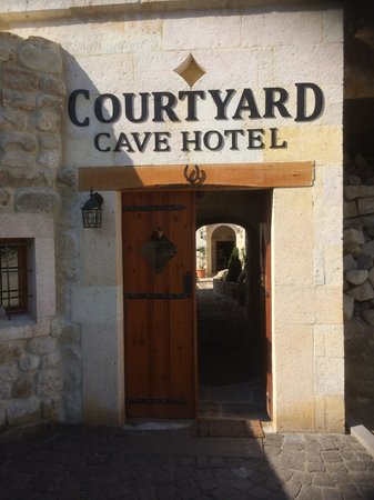 Canyon Cave Hotel: This simple yet elegant entrance leads to a stunning courtyard with magnificent views of Urgup