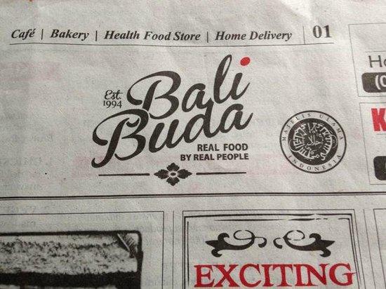 Bali Buda: Their extensive menu is inside their newspaper....very cool!