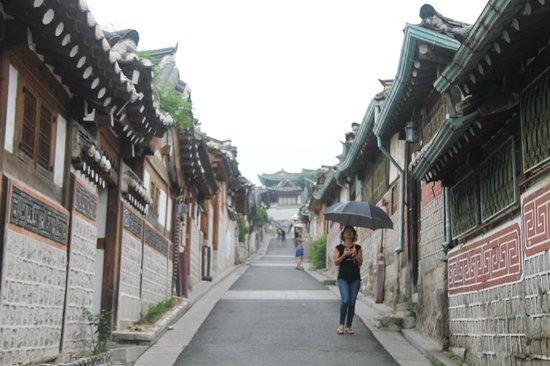Hanok-Dorf Bukchon: alleyway