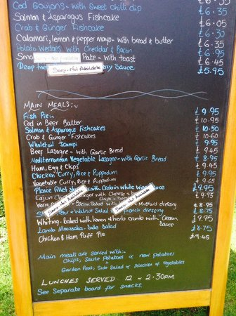Clock Tower Tearooms: Menu -specials