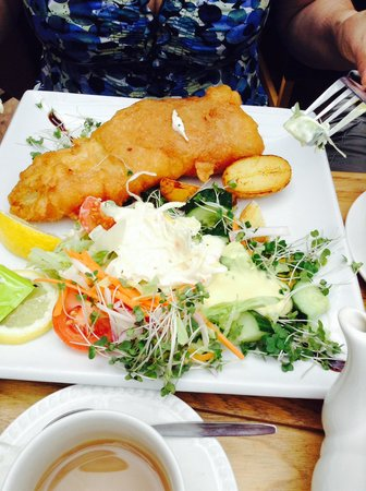 Clock Tower Tearooms: Fish and salad