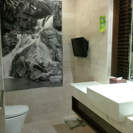 GTower Hotel : toilet with a TV view
